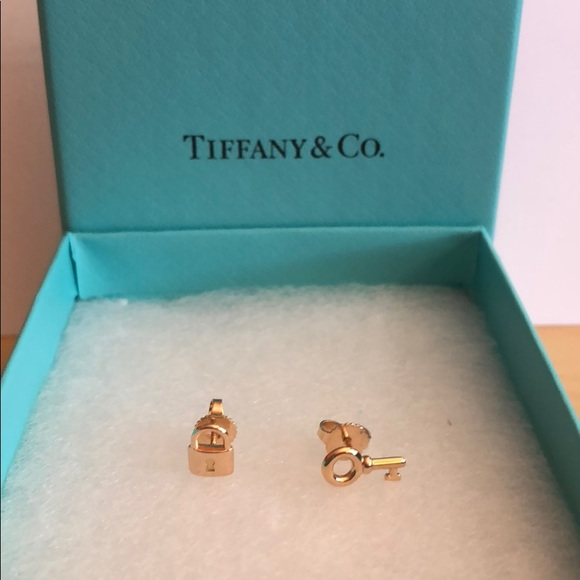 fcb5e421f Tiffany & Co. Jewelry | 18k Rose Gold Mini Keylock Earring Set ...
